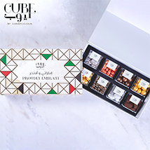 Proudly Emirati Mini 8 Assorted Candy Cubes Gift Box: Cube By Candylicious