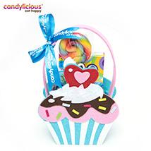 Candylicious Cupcake Felt Blue Gift Pack: Candies
