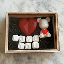 Love U Blueberry Soaps & Teddy Bear Wooden Box: Birthday Gift Hampers