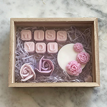 Miss You Flowery Soaps Wooden Box: