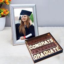 Graduation Chocolates and Photo Frame: Graduation Gifts