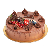 Half Kg Fudge Cake For Anniversary: Anniversary Cake