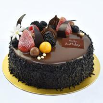 Half Kg Fudge Cake For Birthday: