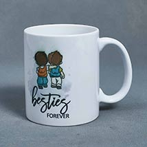 Besties Forever White Mug: Friendship Day Mugs