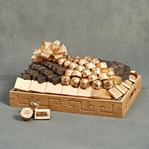 Patchi Chocolates in Wooden Tray: Chocolates For Anniversary