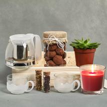 Tea n Cookies Gift Tray: Gift Hampers
