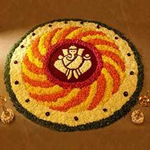 Ganesha Flower Petals Rangoli: