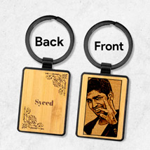 Wooden Keychain Personalised With Photo: Personalised Accessories