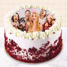 Red Velvet Photo Cake For Birthday:
