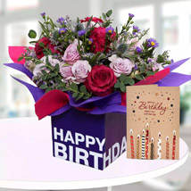 Birthday Flowers With Greeting Card: Flowers & Greeting Cards