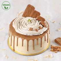 Vegan Lotus Biscoff Cake: