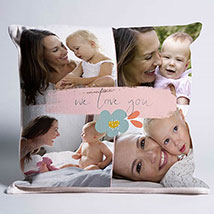 We Love You Personalised Cushion: Mothers Day Cushions