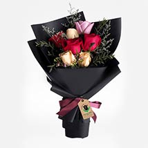 Delight Of Roses Bouquet: Send Flowers to Qatar
