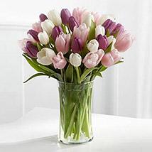Painted Skies Tulip Bouquet SA: Send Gifts to Saudi Arabia