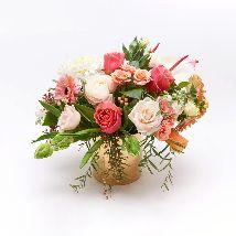 Mix Flower In Glass Vase: Send Flowers to Saudi Arabia